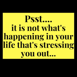 stress, overwhelm, thought work, cognitive coaching, cut